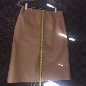 Newport News Skirts - Newport News Easy Style Leather Skirt